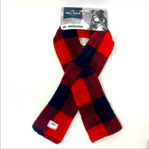 Tall Tails Fleece Dog Scarf Red Plaid